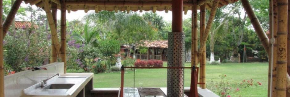 Zona BBQ Fuente Finca Villa Mariana Fanpage Facebook